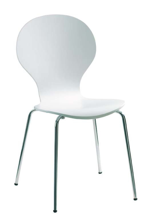 4 sillas de cocina comedor abigail de color blanca miliboo for Sillas blancas para cocina