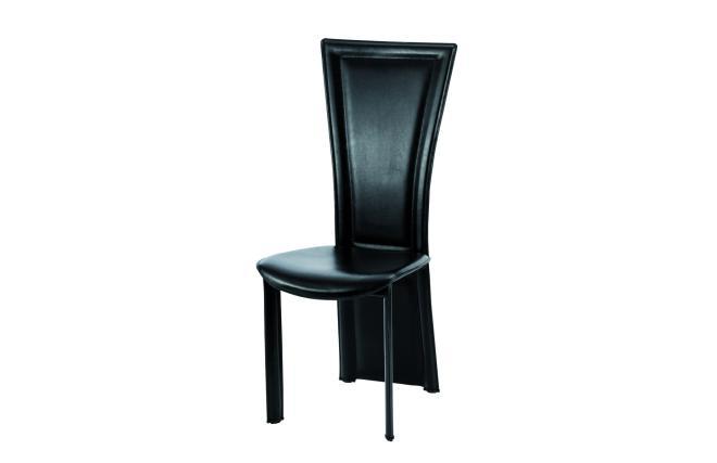 4 sillas de comedor cocina de dise o joana de piel for Sillas cocina negras