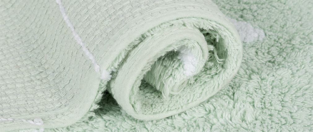 Alfombra algodón 120x160cm menta ALISHIA