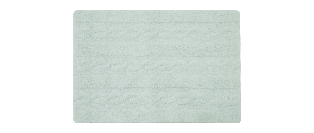 Alfombra algodón 120x160cm menta INES