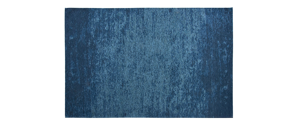 Alfombra azul acrílico-algodón 155x230 STONE