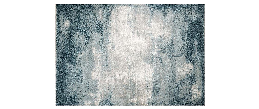 Alfombra azul en polipropileno 160x230 cm CHLOE