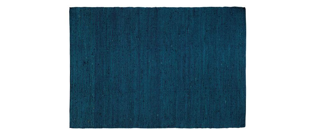 Alfombra azul yute 170x240cm GUNNY