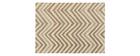 Alfombra beige con motivos 140 x 200 cm ZIGZAG