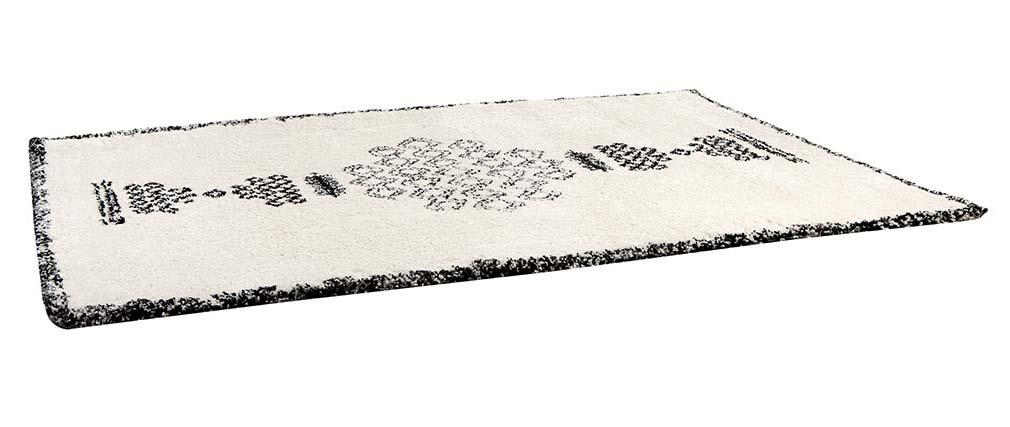 Alfombra bereber negra y blanca 200 x 290 cm OYO