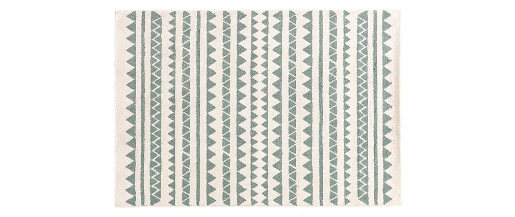 Alfombra con motivos gráficos azul claro 120 x 170 cm TAYA