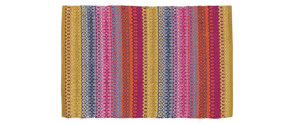 Alfombra con motivos multicolor 140 x 200 cm SENEGAL
