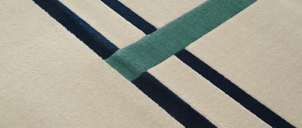 Alfombra con motivos multicolor 160x230cm  MONDRIAN