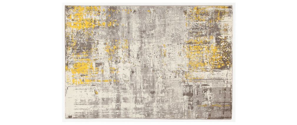 Alfombra crudo y amarillo 160 x 230 cm CAPS