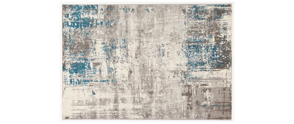 Alfombra crudo y azul 160 x 230 cm CAPS