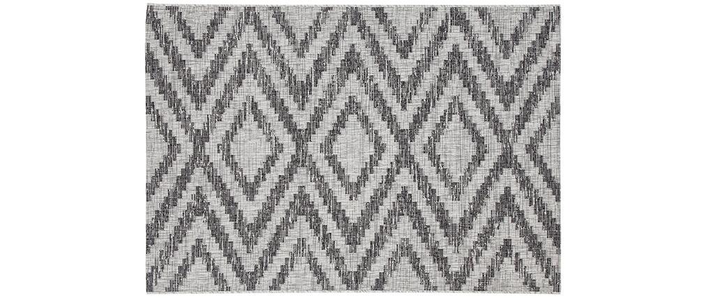 Alfombra de exterior con motivos geométricos gris 160 x 230 cm LUDI