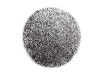 Alfombra de pelo redonda gris 150 cm UGO