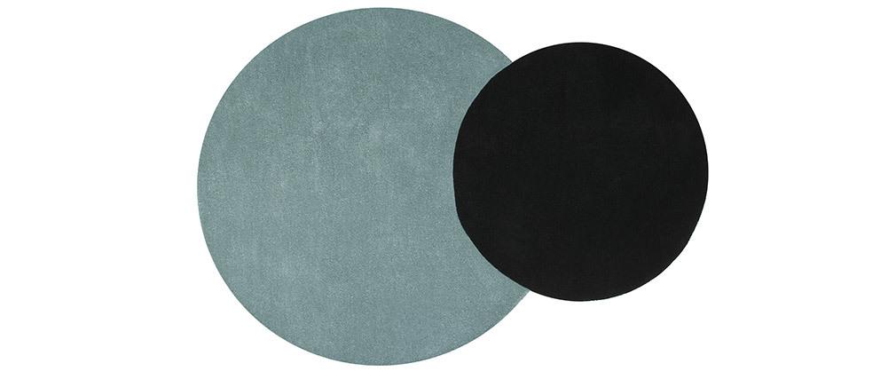 Alfombra doble azul y negra 140x200cm ECLIPSE