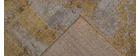 Alfombra efecto desgastado amarillo con motivo grabado 160 x 230 cm PERSE