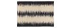 Alfombra en lana marfil y negro 160 x 230 cm IKAT