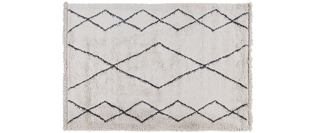 Alfombra estilo bereber gris gris 160 x 230 cm TRIBU
