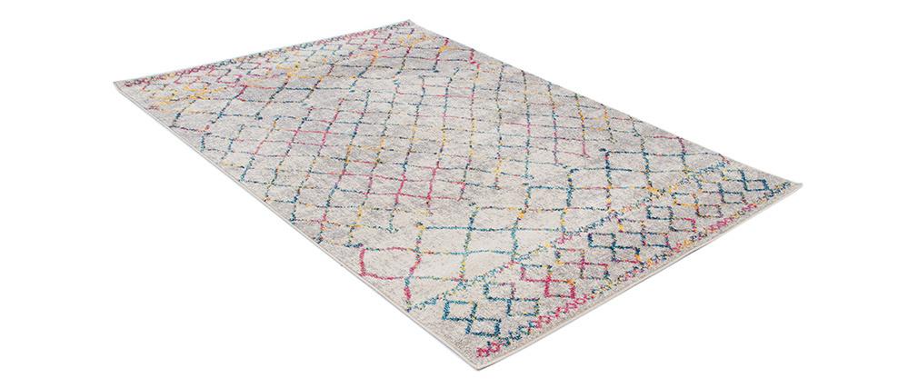 Alfombra estilo bereber gris y multicolor 160 x 230 cm CIELO