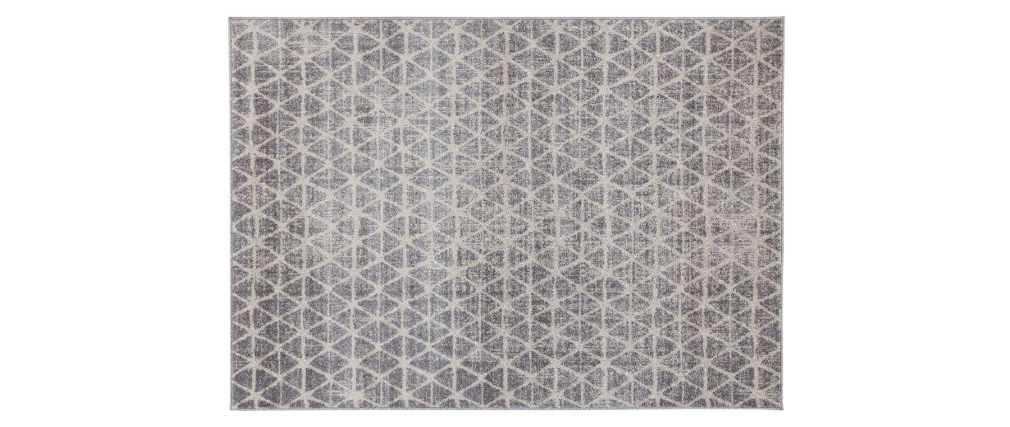 Alfombra gráfica beige 150 x 200 cm FLAKE