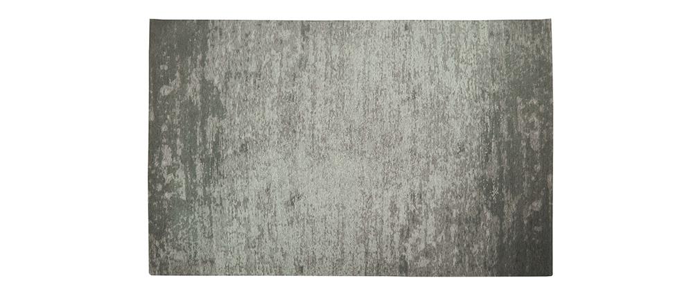Alfombra gris acrílico-algodón 155x230 STONE