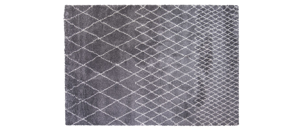 Alfombra gris claro polipropileno 160x230 LATTICE