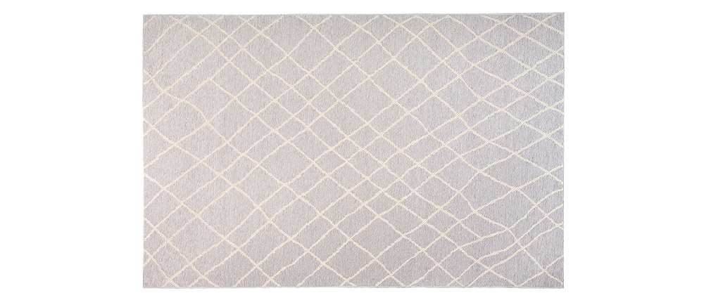Alfombra gris claro propileno 160x230 FLOW