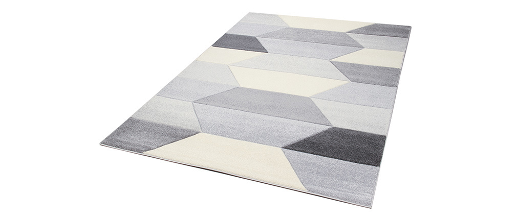Alfombra gris gris 160 x 230 cm NAVETTE