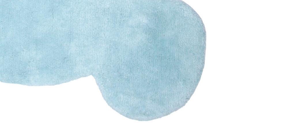 Alfombra infantil en algodón azul 80x100 cm TEDDY