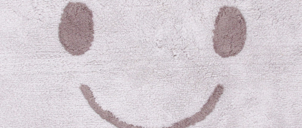 Alfombra infantil en algodón gris 75x115 cm NIMBUS