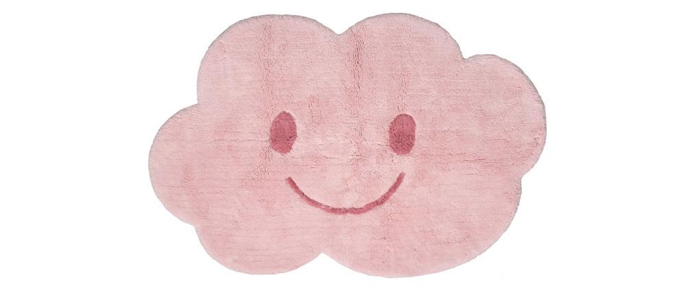 Alfombra infantil en algodón rosa 75x115 cm NIMBUS