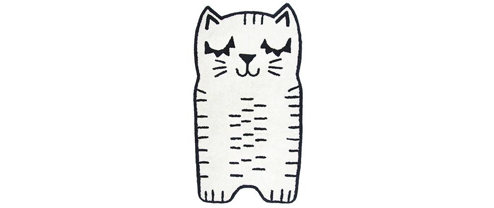 Alfombra infantil forma gato en algodón 80x150 cm CHARLI