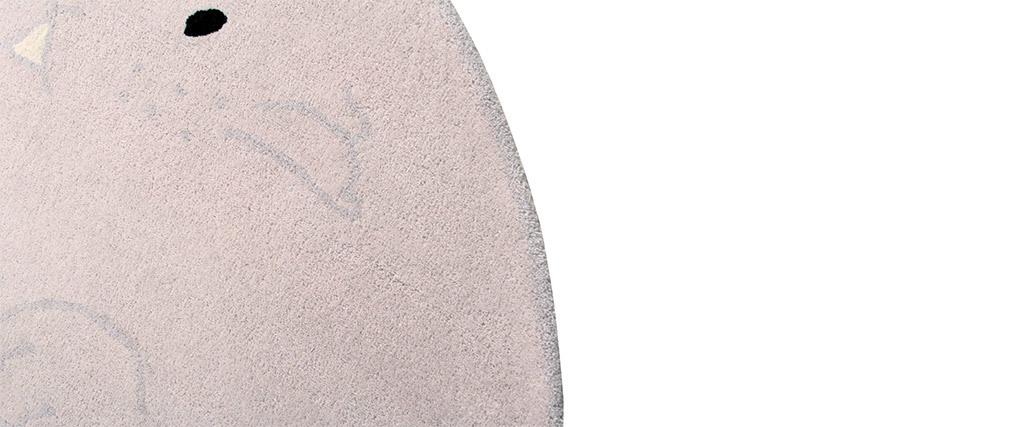 Alfombra infantil gris claro 150x200cm BUNNY