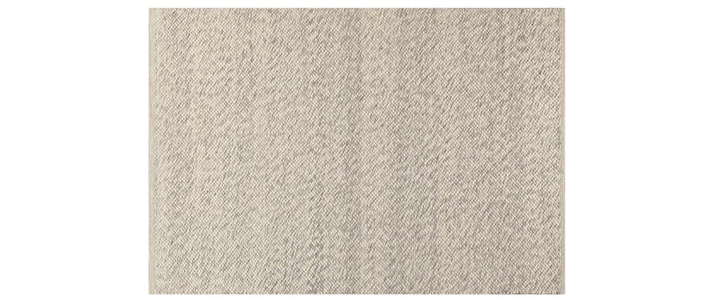 Alfombra marfil en lana 140 x 200 cm WOOL