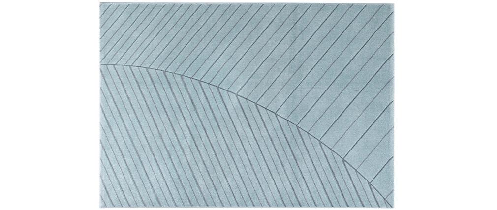 Alfombra moderna azul claro 160 x 230 cm PALM