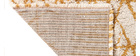 Alfombra moderna beige y amarillo 120 x 170 cm PALMERAIE