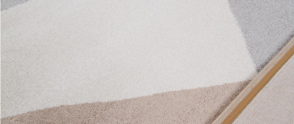 Alfombra moderna blanca, beige y gris 160 x 230 cm TAPEZI