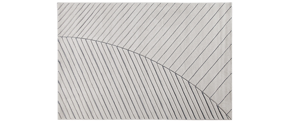 Alfombra moderna gris claro 160 x 230 cm PALM