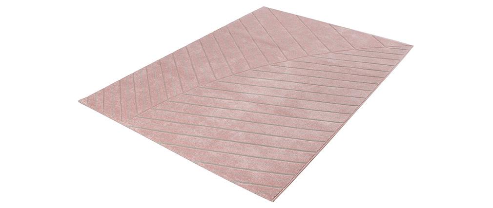 Alfombra moderna rosa 160 x 230 cm PALM