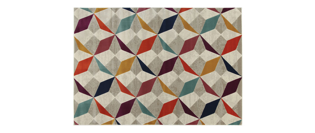 Alfombra multicolor 160 x 230 cm DAUDET