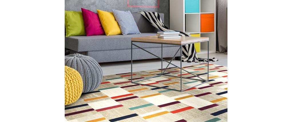 Alfombra multicolor 160 x 230 cm GIRARD