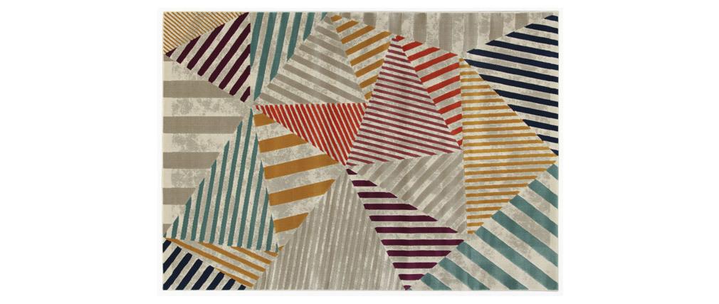 Alfombra multicolor 160 x 230 cm TRIANGLE