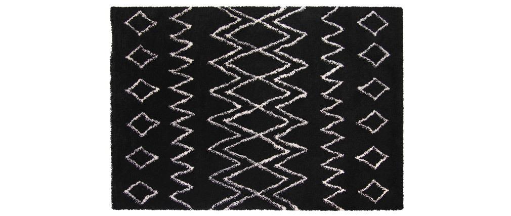 Alfombra negro y marfil polipropileno 160x230 AZETTA