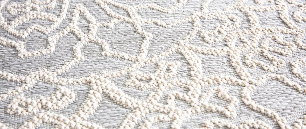 Alfombra redonda gris perla 160 cm MOZAIC