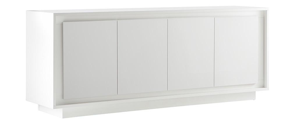 Aparador 4 puertas moderno blanco LAND