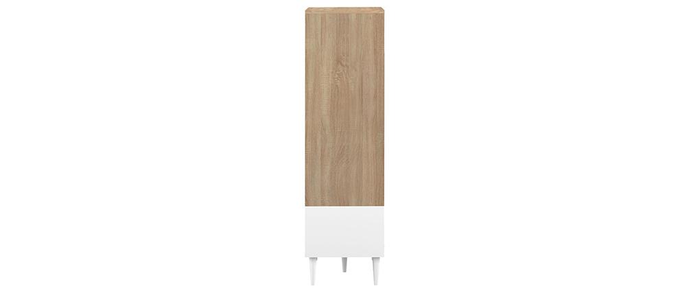 Aparador alto nórdico blanco y madera STRIPE