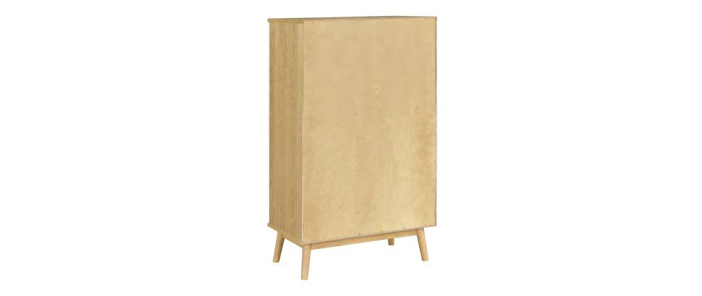 Aparador alto nórdico madera clara y blanco 2 puertas TALIA