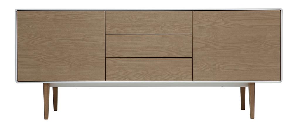 Aparador diseño contemporáneo blanco y madera ROMY