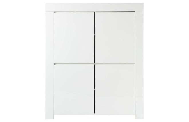 Artesanato Recife Marco Zero ~ Aparador diseño cuadrado 4 puertas lacado blanco ERIA Miliboo