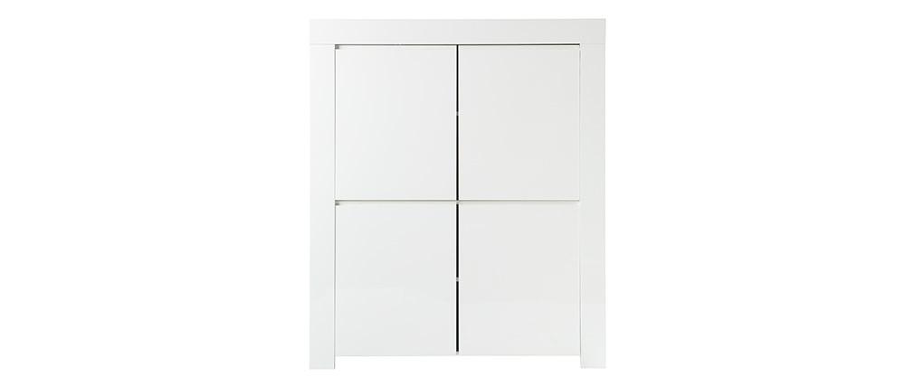 Aparador diseño cuadrado 4 puertas lacado blanco ERIA