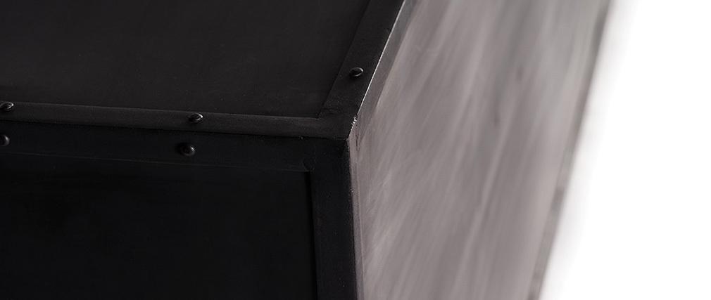 aparador diseño metal negro FACTORY