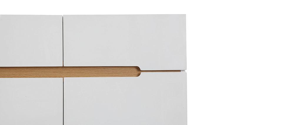 Aparador escandinavo blanco y fresno 80cm MELKA